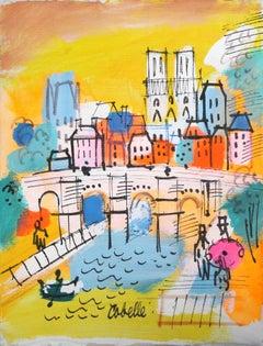 Notre Dame with Bridge