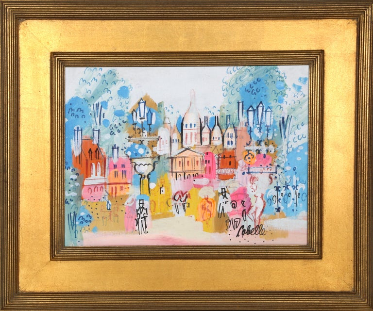 Artist:  Charles Cobelle, French (1902 - 1994) Title:  Old Montmarte Year:  1966 Medium:  Acrylic on Canvas mounted to wood, signed l.r. Size:  12 x 16 in. (30.48 x 40.64 cm) Frame Size:  19.5 x 23.5 inches