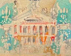 """""""Palais Garnier, Paris,"""" Charles Cobelle, Colorful Naive French Landscape"""