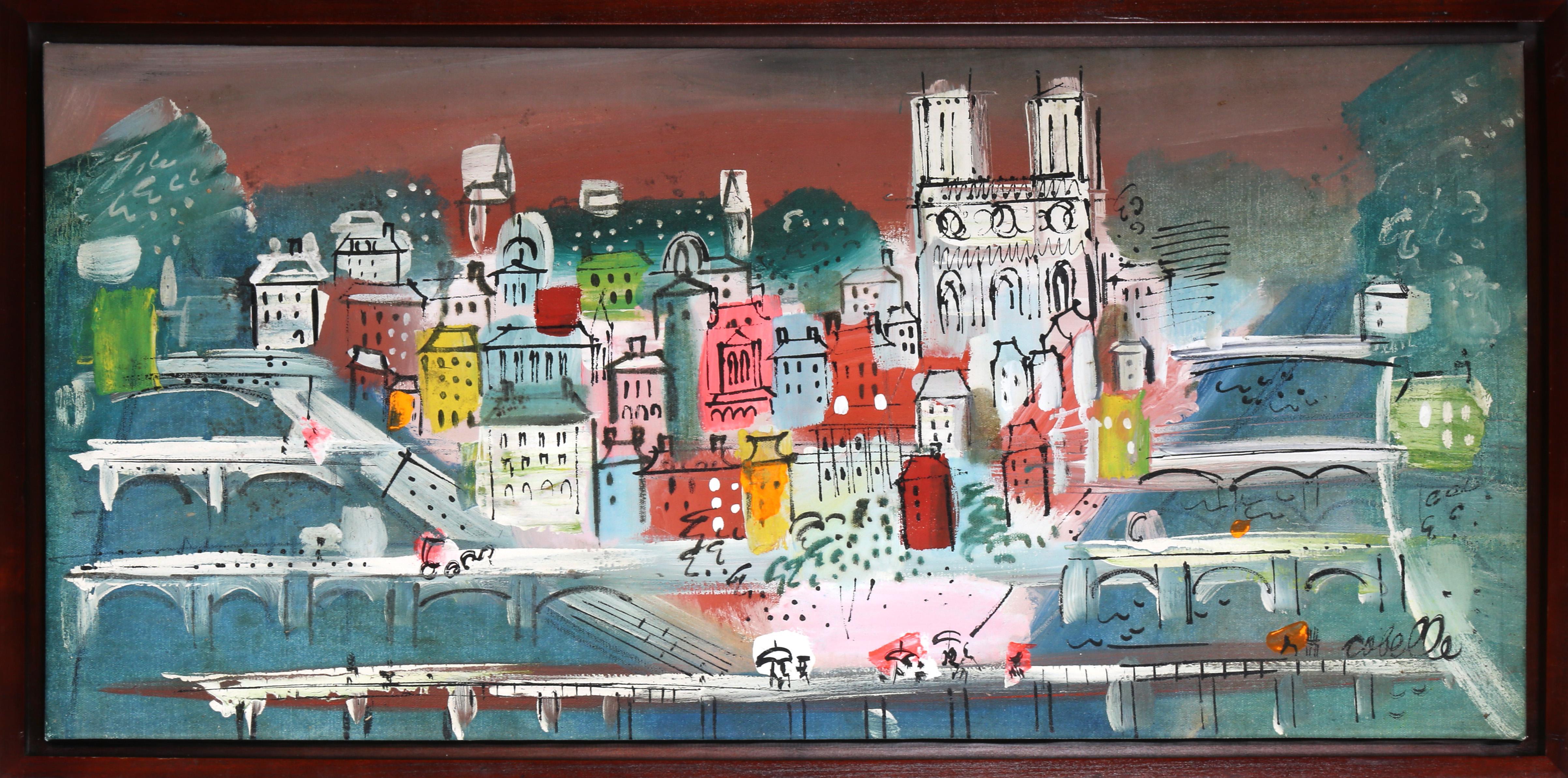Paris Bridges, Painting by Charles Cobelle
