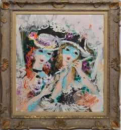 Paris Modern Portrait of Two Women by Charles Cobelle