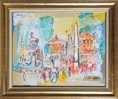 Paris Scene, Painting by Charles Cobelle