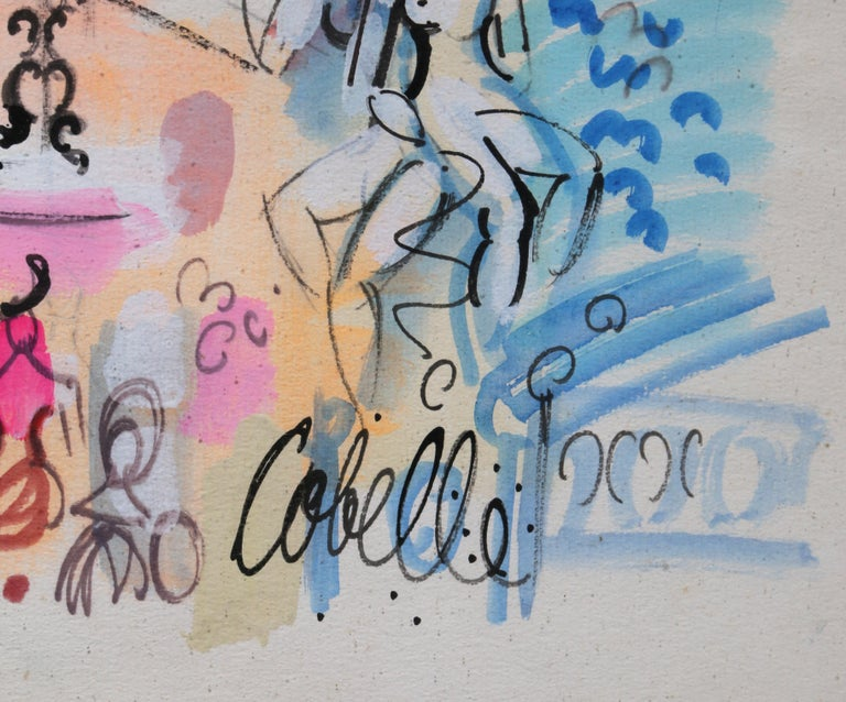 Parisienne Fantasy 2, Watercolor Painting by Charles Cobelle For Sale 1