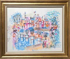 Parisienne Fantasy, Watercolor Painting by Charles Cobelle