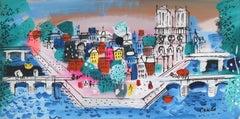 View of Ile de la Cité, with Notre Dame , Painting