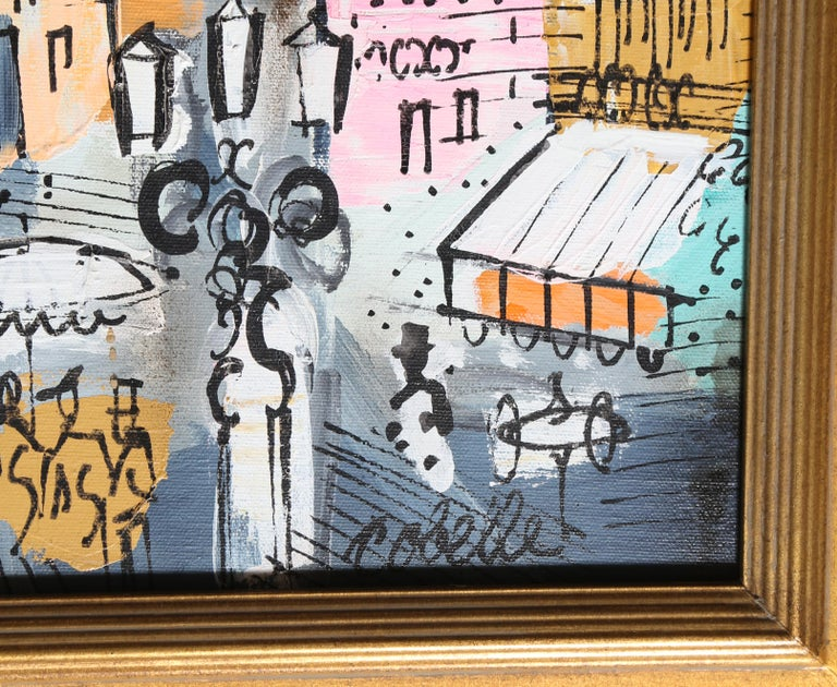 View of Paris, Acrylic Painting by Charles Cobelle For Sale 1