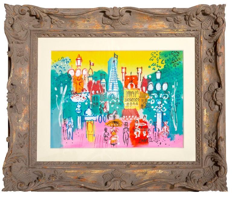 Charles Cobelle Landscape Painting - View of the Eiffel Tower, Paris Landscape