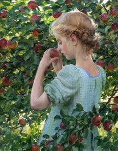 Apple Perfume, Figurative work by Charles Courtney Curran (1861-1942, American)