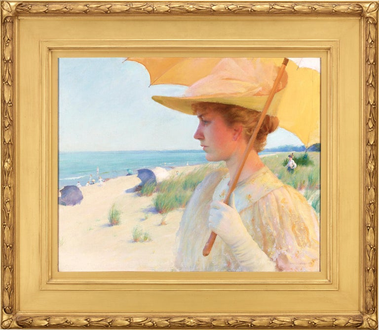 On the Shores of Lake Erie - Painting by Charles Courtney Curran