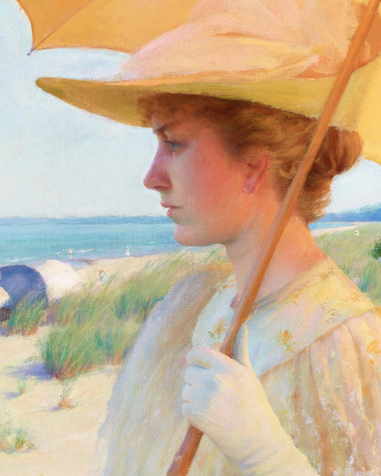 On the Shores of Lake Erie - Impressionist Painting by Charles Courtney Curran