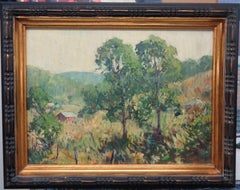 American Impressionist Artist Charles Curtis Allen NA Two Trees Oil painting