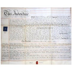 Charles Dickens 1863 Signed Large Paper Document