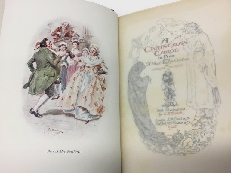 Charles Dickens Christmas Books, Special Illustrated Edition Set of Five For Sale 7
