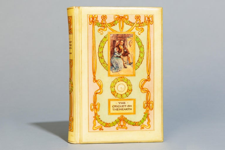 A tale of home. With colored illustrations by C.E. Brock, Bound in full vellum and hand-painted on front cover and spine by Cedric Chivers, Top edges gilt. 