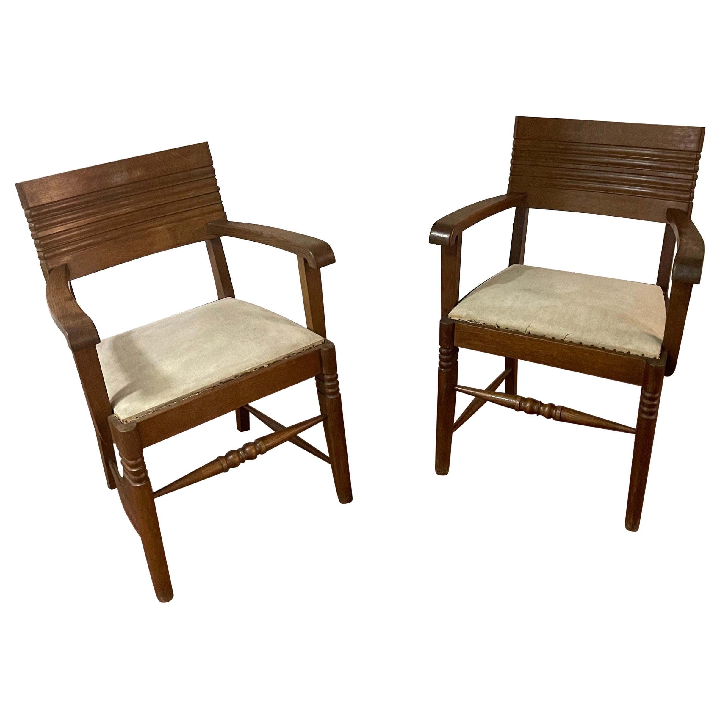 Charles Dudouyt Armchairs