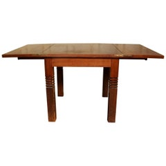 Charles Dudouyt , Art Deco Oak Table, Signes, circa 1935