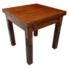 Charles Dudouyt, Art Deco Oak Table, Signes, circa 1935