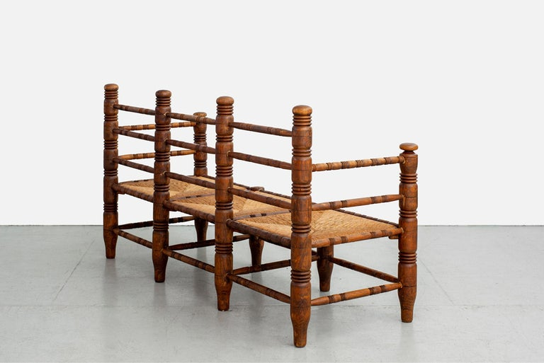 Mid-20th Century Charles Dudouyt Bench For Sale