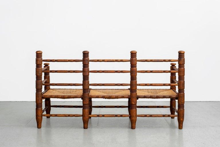 Oak Charles Dudouyt Bench For Sale