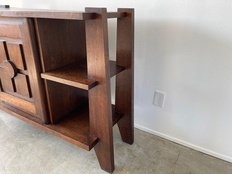 Oak Charles Dudouyt Cabinet For Sale