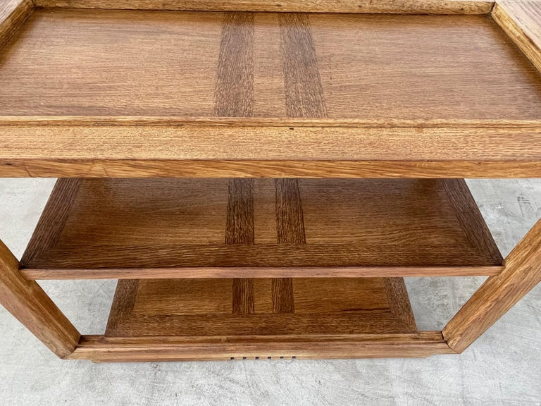 French Charles Dudouyt Console Table For Sale