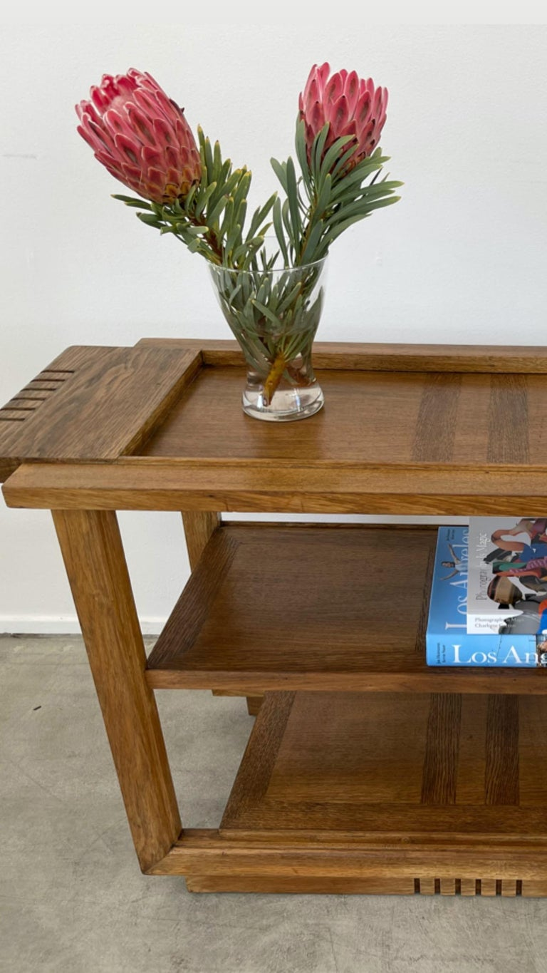 Mid-20th Century Charles Dudouyt Console Table For Sale