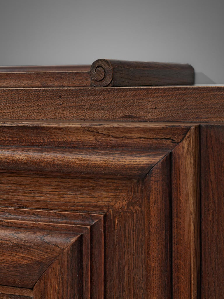 Charles Dudouyt Credenza in Stained Oak For Sale 1