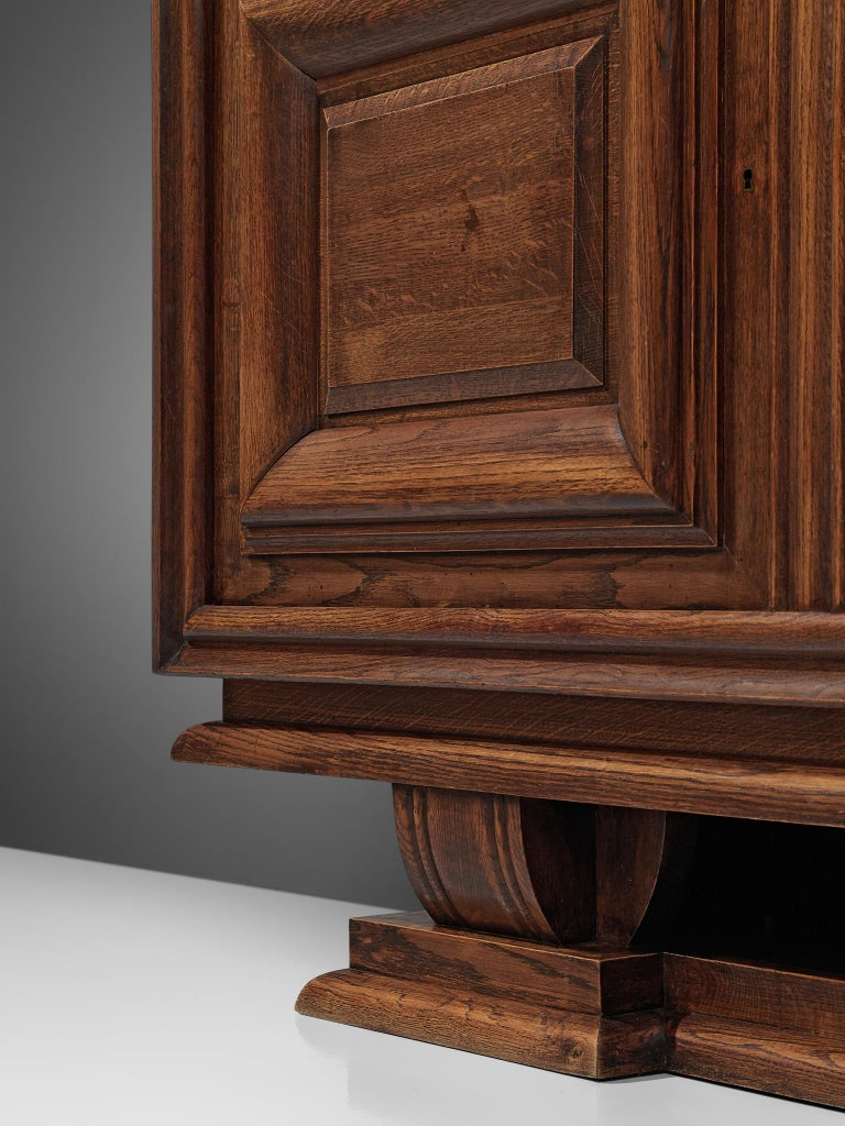 Charles Dudouyt Credenza in Stained Oak For Sale 2