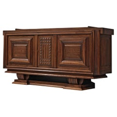 Charles Dudouyt Credenza in Stained Oak