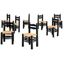 Charles Dudouyt Dining Chairs, Set of 8