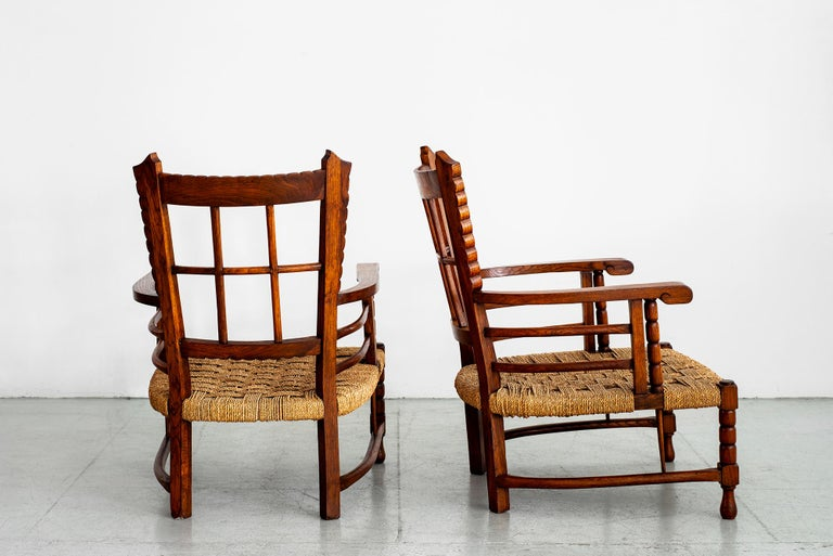 French Charles Dudouyt Lounge Chairs For Sale