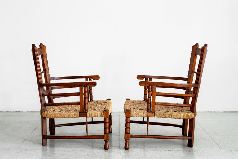 Mid-20th Century Charles Dudouyt Lounge Chairs For Sale