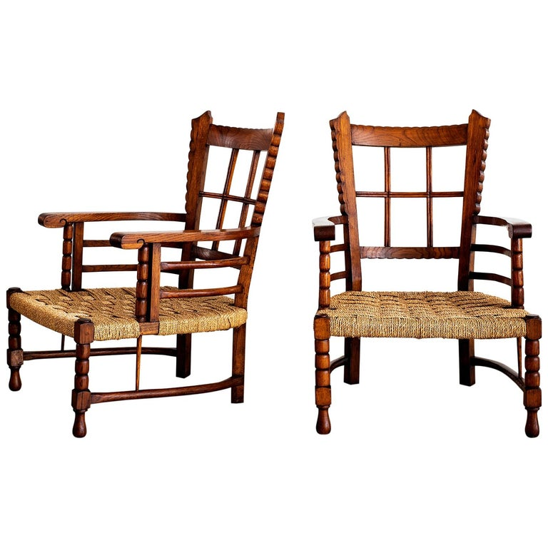 Charles Dudouyt Lounge Chairs For Sale