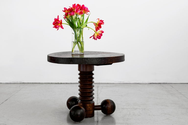 Mid-Century Modern Charles Dudouyt Side Table For Sale