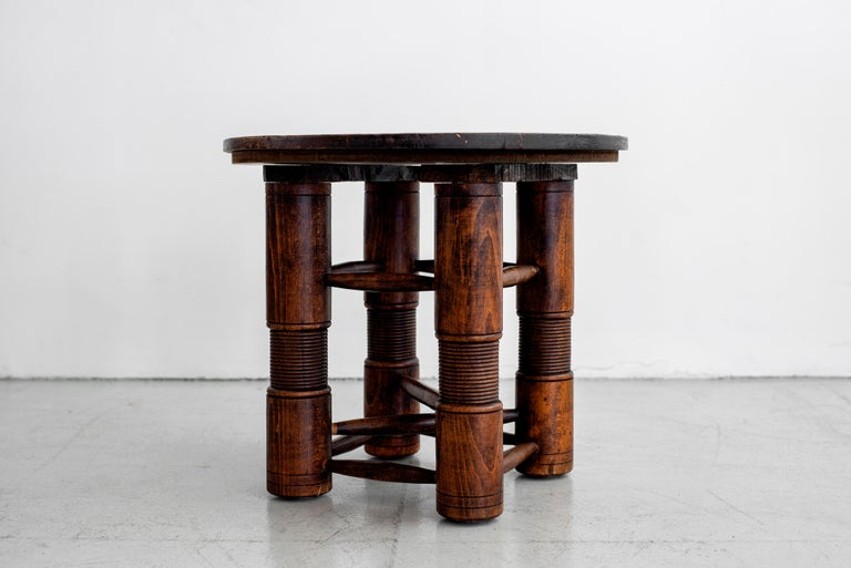 French Charles Dudouyt Side Table