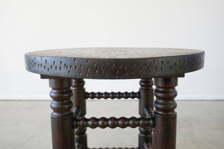 French Charles Dudouyt Side Table For Sale