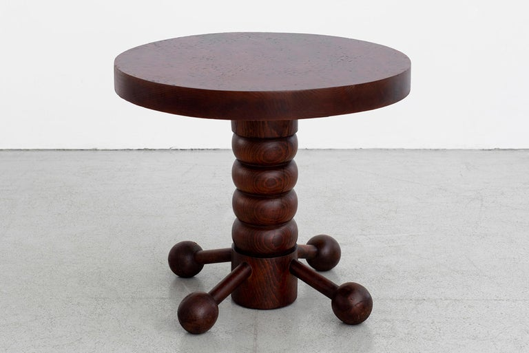 Mid-20th Century Charles Dudouyt Side Table For Sale