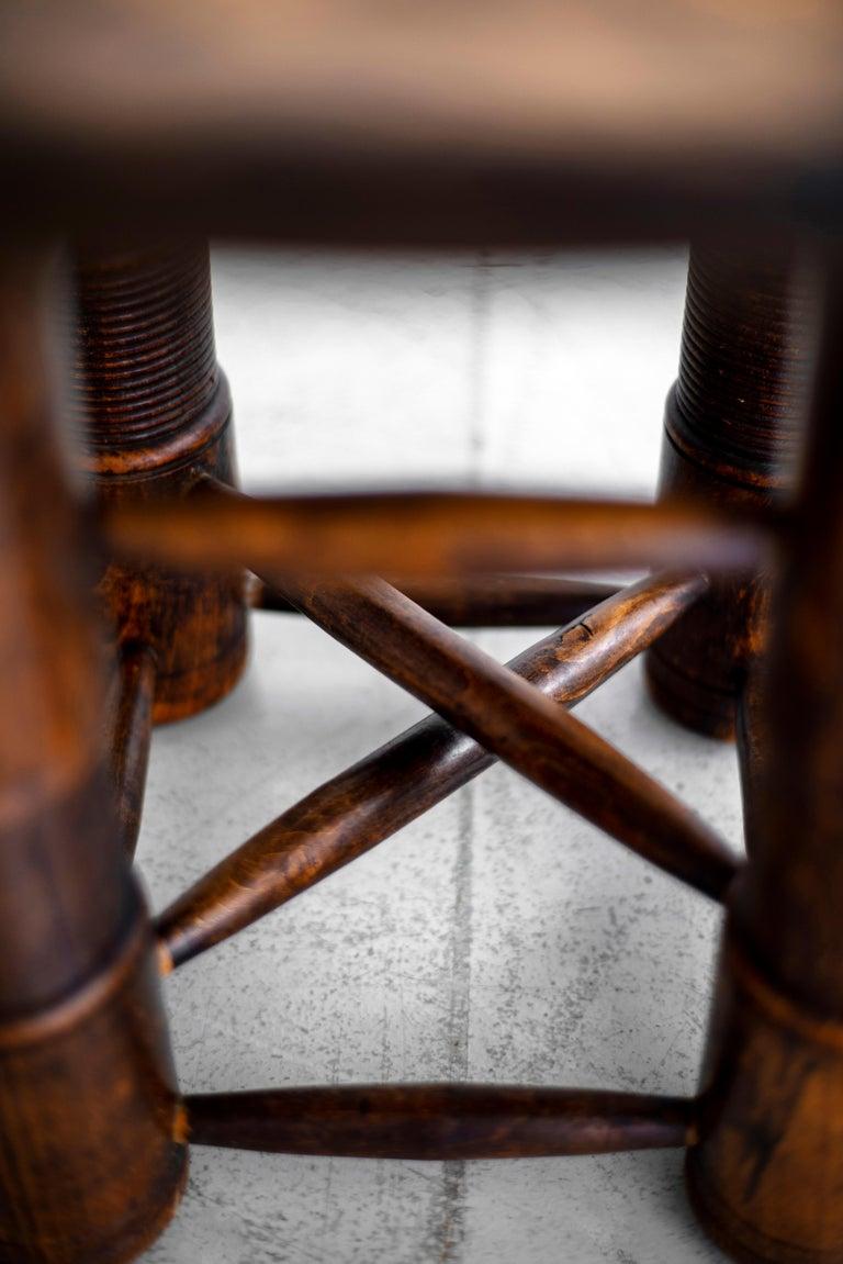 Oak Charles Dudouyt Side Table