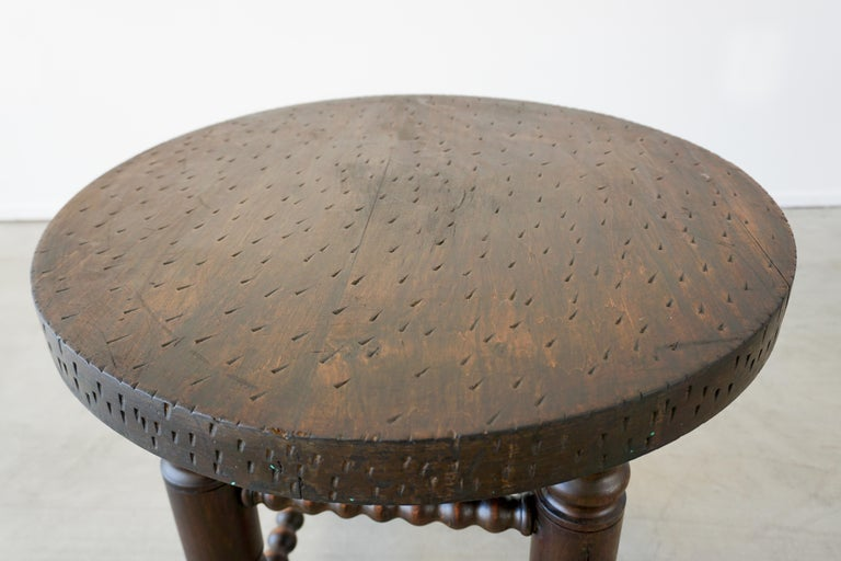 Oak Charles Dudouyt Side Table For Sale