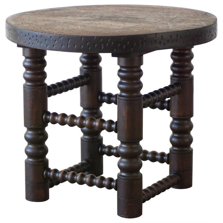Charles Dudouyt Side Table For Sale
