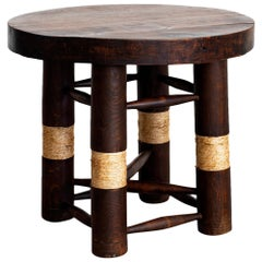 Charles Dudouyt Side Table with Rope