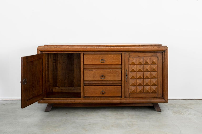 French Charles Dudouyt Sideboard, circa 1930s For Sale