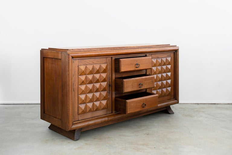 Oak Charles Dudouyt Sideboard, circa 1930s For Sale