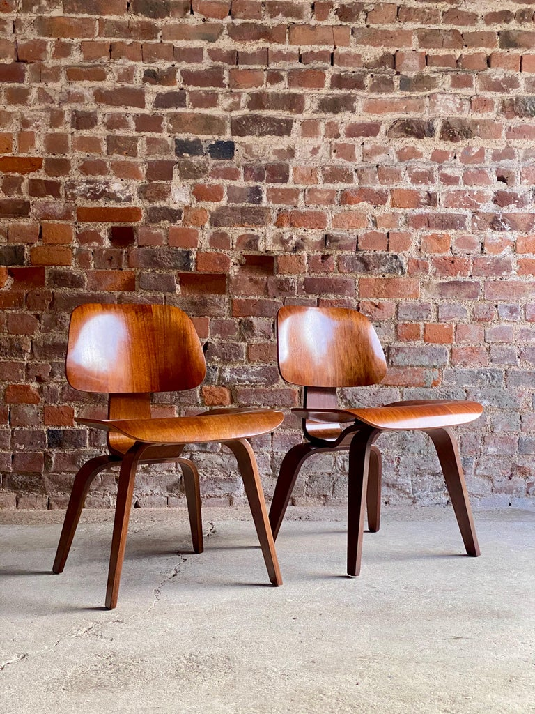 Mid-Century Modern Charles Eames DCW Dining Chairs by Herman Miller, circa 1950 For Sale