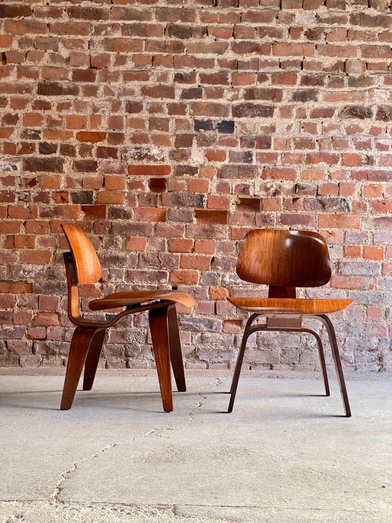 Mid-20th Century Charles Eames DCW Dining Chairs by Herman Miller, circa 1950 For Sale
