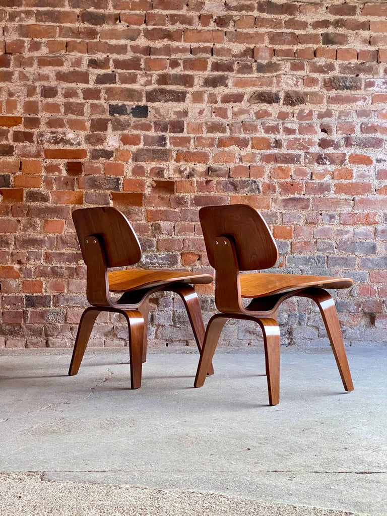 Birch Charles Eames DCW Dining Chairs by Herman Miller, circa 1950 For Sale