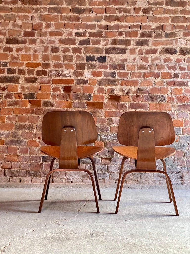 Charles Eames DCW Dining Chairs by Herman Miller, circa 1950 For Sale 1