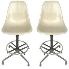 Charles Eames for Herman Miller Bar/Counter Stools in Molded Fiberglass