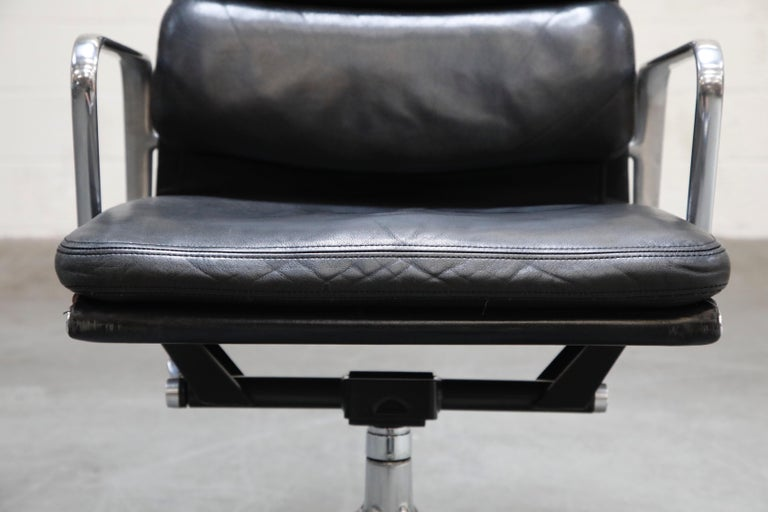 Charles Eames for Herman Miller Soft-Pad Executive Desk Chairs, Signed For Sale 3