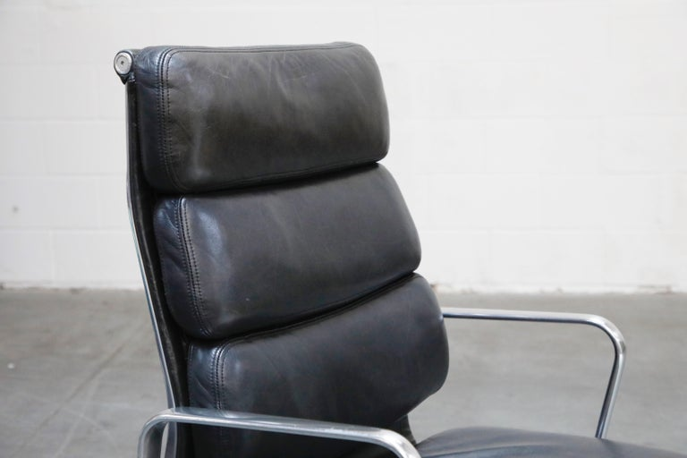 Charles Eames for Herman Miller Soft-Pad Executive Desk Chairs, Signed For Sale 5